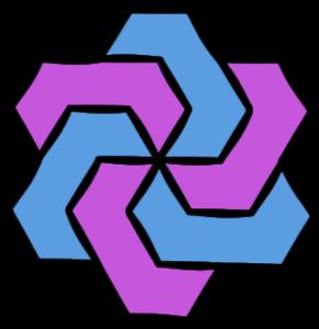 Basic Pinwheel Shape Element to use in Coloring Pattern Design