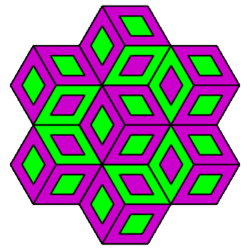 """""""Stacked Cubes"""" Coloring pattern"""